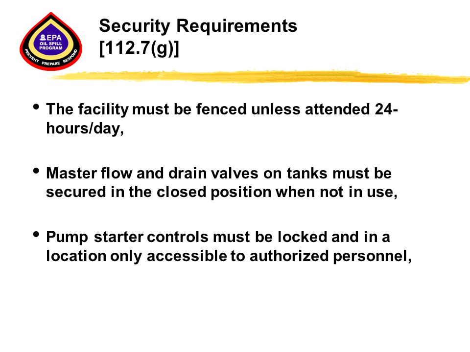 Security Requirements [112.7(g)]